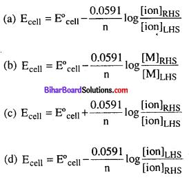 Bihar Board 12th Chemistry Objective Answers Chapter 3 वैद्युतरसायन 7