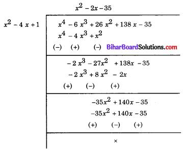 Bihar Board Class 10 Maths Solutions Chapter 2 बहुपद Ex 2.4 Q4.1