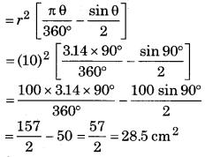 Bihar Board Class 10 Maths Solutions Chapter 12 वृतों से संबंधित क्षेत्रफल Ex 12.2 Q4