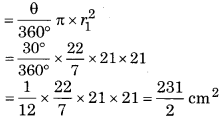 Bihar Board Class 10 Maths Solutions Chapter 12 वृतों से संबंधित क्षेत्रफल Ex 12.3 Q14.1