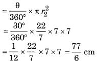 Bihar Board Class 10 Maths Solutions Chapter 12 वृतों से संबंधित क्षेत्रफल Ex 12.3 Q14.2