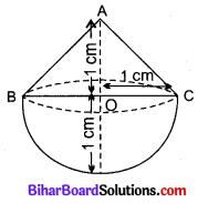 Bihar Board Class 10 Maths Solutions Chapter 13 पृष्ठीय क्षेत्रफल एवं आयतन Ex 13.2 Q1