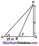 Bihar Board Class 10 Maths Solutions Chapter 9 त्रिकोणमिति के कुछ अनुप्रयोग Additional Questions LAQ 1