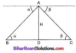 Bihar Board Class 10 Maths Solutions Chapter 9 त्रिकोणमिति के कुछ अनुप्रयोग Additional Questions LAQ 13