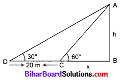Bihar Board Class 10 Maths Solutions Chapter 9 त्रिकोणमिति के कुछ अनुप्रयोग Additional Questions LAQ 2