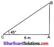 Bihar Board Class 10 Maths Solutions Chapter 9 त्रिकोणमिति के कुछ अनुप्रयोग Additional Questions VSQ 2