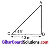 Bihar Board Class 10 Maths Solutions Chapter 9 त्रिकोणमिति के कुछ अनुप्रयोग Additional Questions VSQ 3