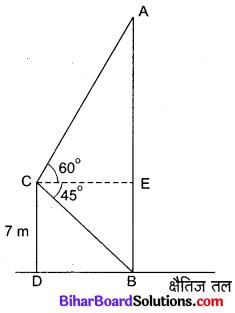 Bihar Board Class 10 Maths Solutions Chapter 9 त्रिकोणमिति के कुछ अनुप्रयोग Ex 9.1 Q12