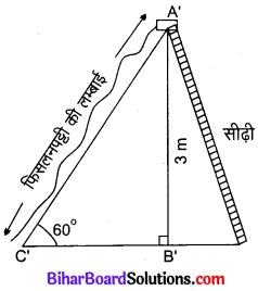 Bihar Board Class 10 Maths Solutions Chapter 9 त्रिकोणमिति के कुछ अनुप्रयोग Ex 9.1 Q3.1 (1)