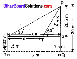 Bihar Board Class 10 Maths Solutions Chapter 9 त्रिकोणमिति के कुछ अनुप्रयोग Ex 9.1 Q6
