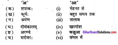 Bihar Board Class 7 Sanskrit Solutions Chapter 2 कूर्मशशककथा 1