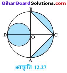 Bihar Board Class 10 Maths Solutions Chapter 12 वृतों से संबंधित क्षेत्रफल Ex 12.3 Q9