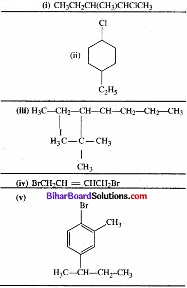 BIhar Board Class 12 Chemistry Chapter 10 हैलोऐल्केन तथा हैलोऐरीन img 1